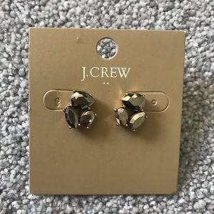 J. Crew Gunmetal Earring Studs